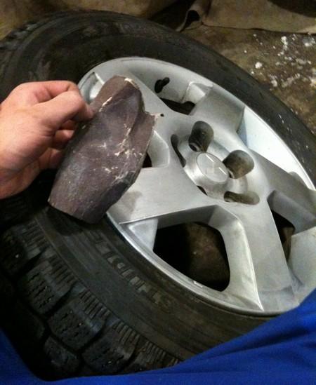Зашкуриваем диск перед грунтовкой