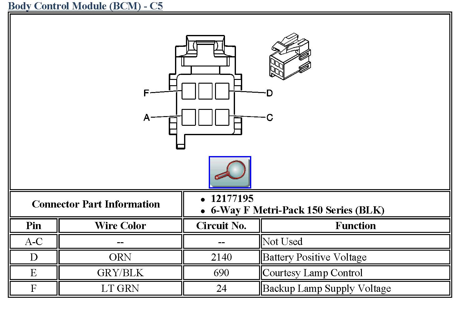 Chevy Backup Light Wiring Diagram