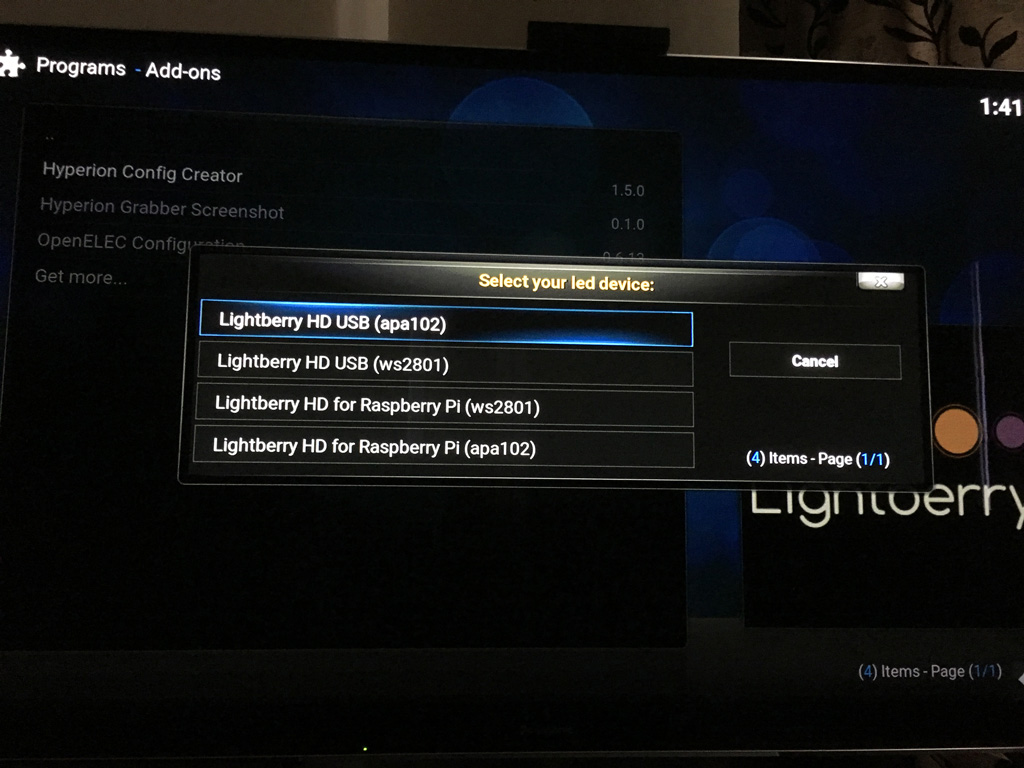 How to setup & configure Lightberry HD with Hyperion & HyperCon