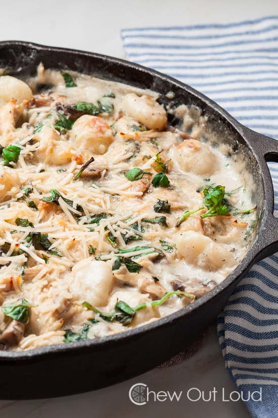 One Pot Gnocchi with Spinach and Chicken 5