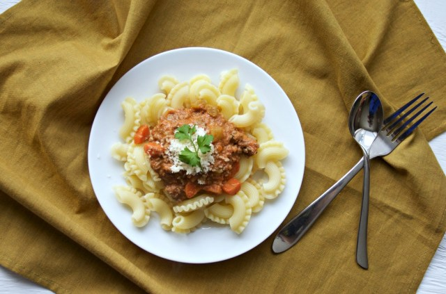 slow-cooked bolognese