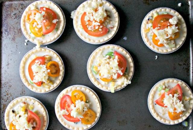 Cheesy Grilled Corn Mini Tarts