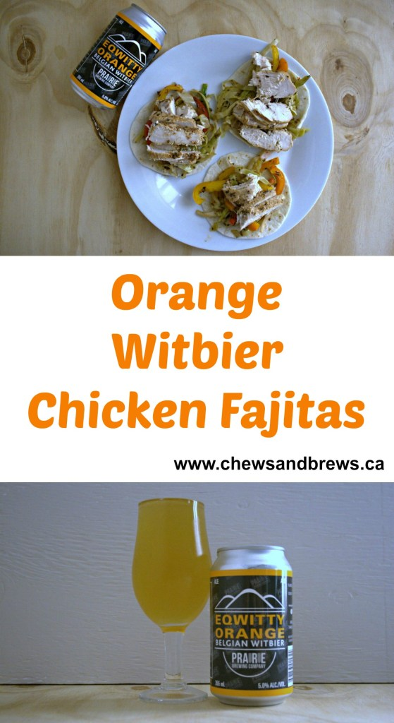 Orange Witbier Chicken Fajitas