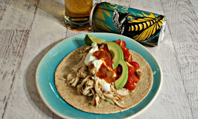 Lager Beer and Pineapple Juice Chicken Tacos