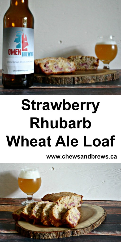 Strawberry Rhubarb Wheat Ale Loaf