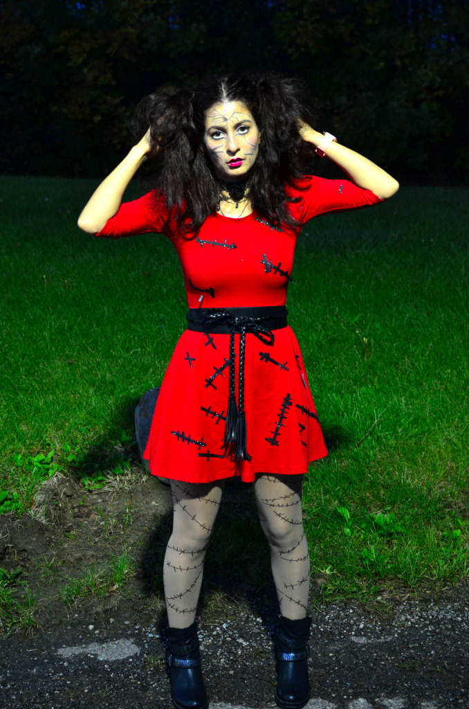 Halloween DIY broken doll costume-last minute halloween look