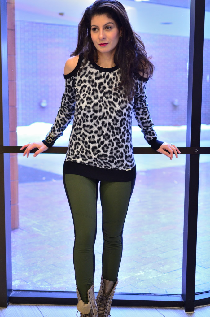 Animal print trend: leopard print sweater
