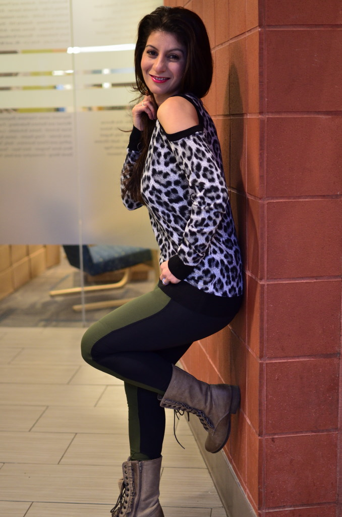 Animal print trend: leopard print sweater