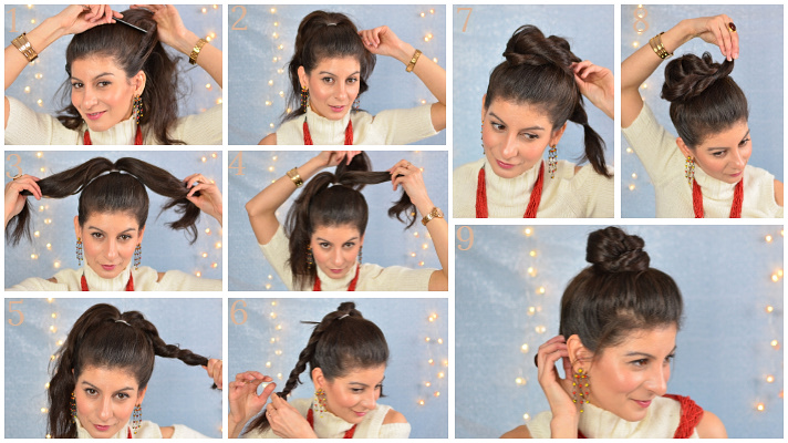 Easy top knot bun hairstyles
