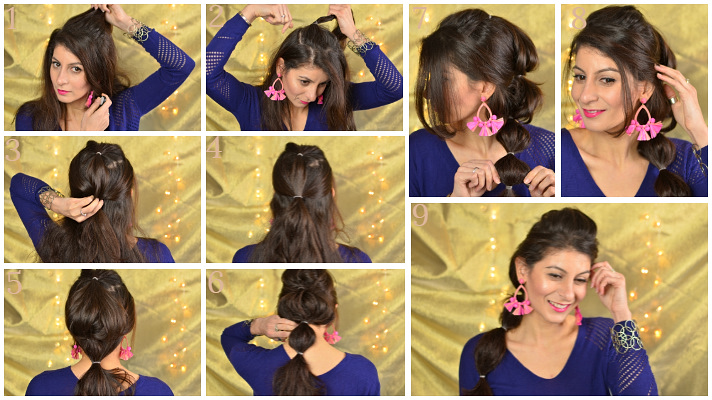 Bubble ponytail hairstyle tutorial