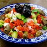 Moroccan Diced Tomato, Cucumber & Onion Salad