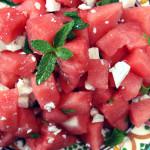 Watermelon, Spearmint & Feta Cheese Salad as always!
