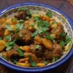 Instagram料理教室:ケフタとセルリアックのレモンパプリカソース煮込み