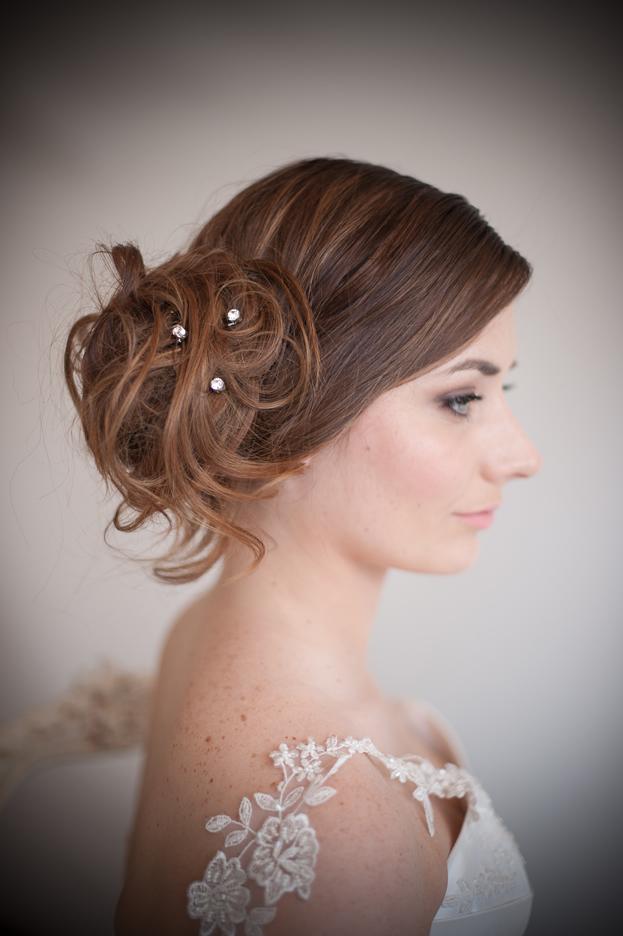 Set Of Diamante Wedding Hair Pins