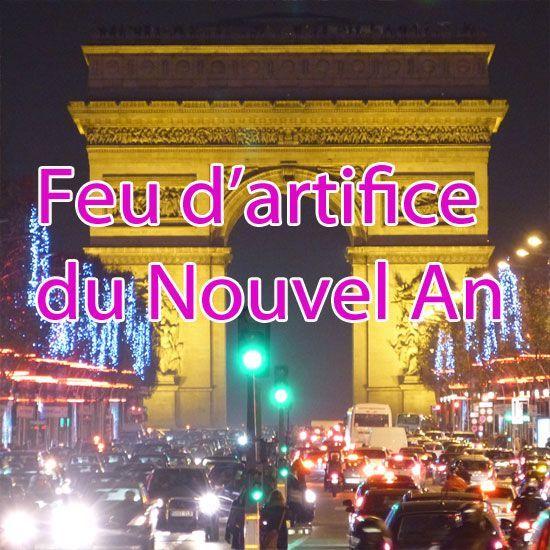 Feu d'artifice nouvel an Paris