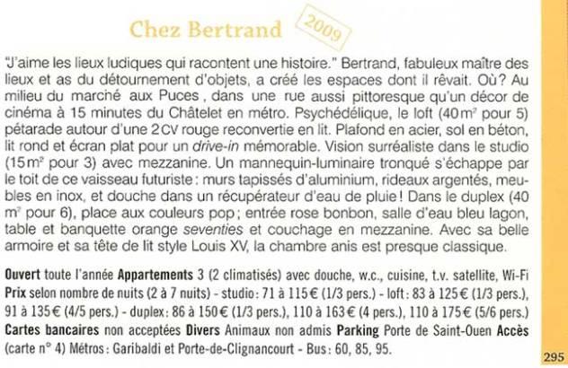 Guide Maison d'hôtes de Charme article