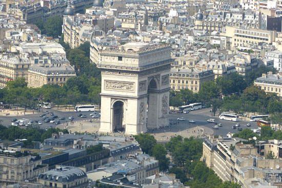 Tour Eiffel vue du 1er étage Arc de Triomphe