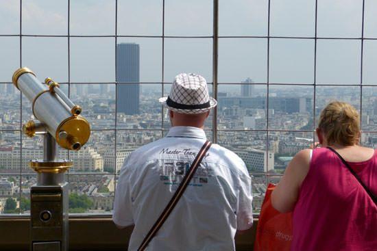 Tour Eiffel vue du 1er étage Tour Montparnasse
