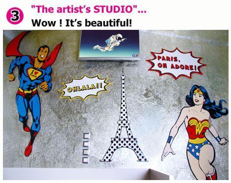 Unusual studio in Paris