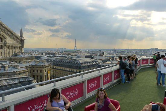 Vue panoramique terrasse Galeries Lafayette Paris
