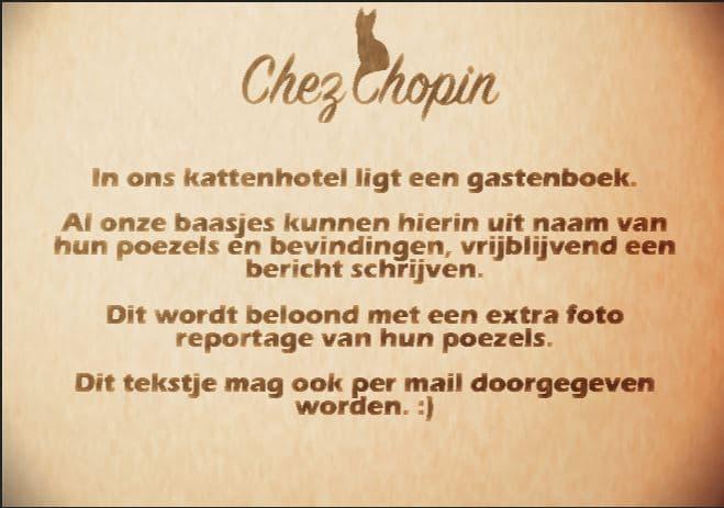 Kattenhotel Chez Chopin, portfolio