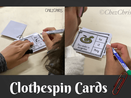 Clothespin Cards
