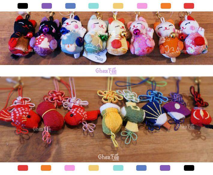 accessoire/attache pour portable - chat japonais maneki neko - www.chezfee.com