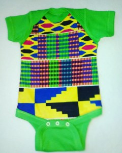 Kente Onesie...Green
