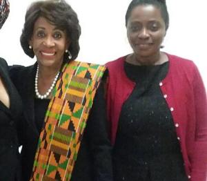 Rep Maxine Water with Titi Wreh of Chez Kevito