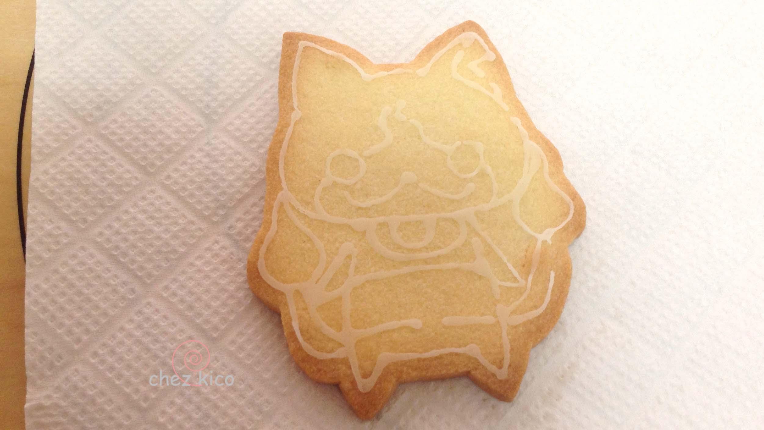 転写で意外に簡単アイシングクッキーでのキャラクターの作り方