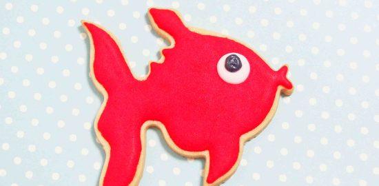 魚のアイシングクッキー(目の作り方)