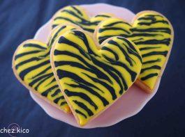 タイガー柄のアイシングクッキーの作りかた