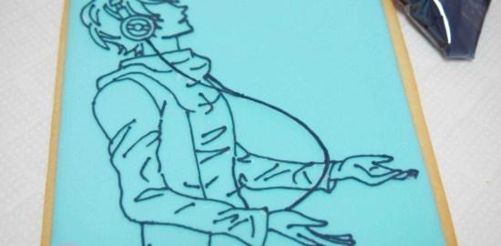 漫画のキャラクターのアイシングクッキー