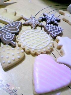 初心者の頃のアイシングクッキー