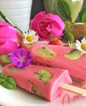 Glace fraise – kiwi