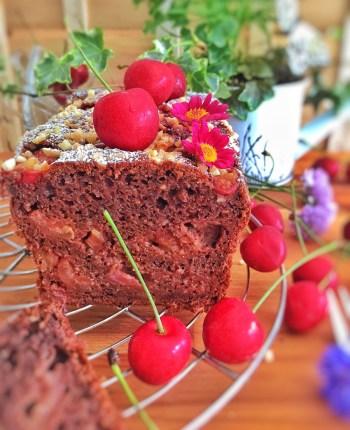 Cake chocolaté aux cerises