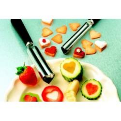 emporte coeur pour sculpter decorer fruits et