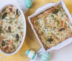 Lasagne di pane carasau con asparagi e ricotta