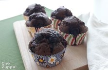 Muffin cioccolato e mirtilli