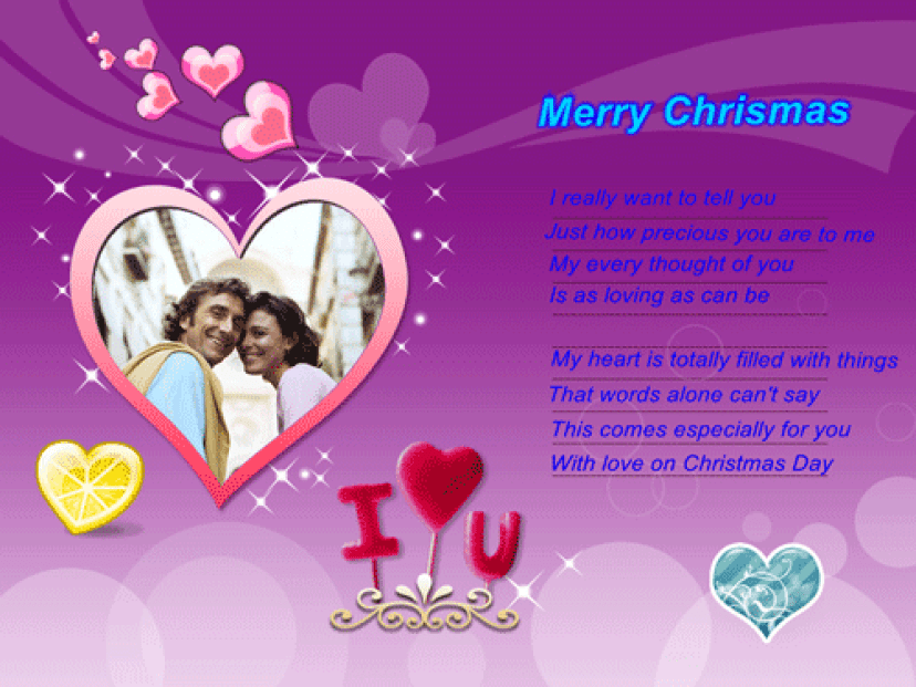 romantic christmas messages for wife gf