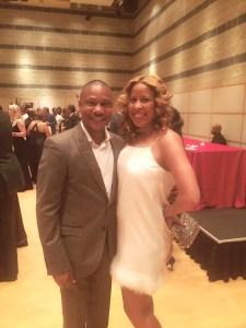 Adam Farmer and myself at last year's gala