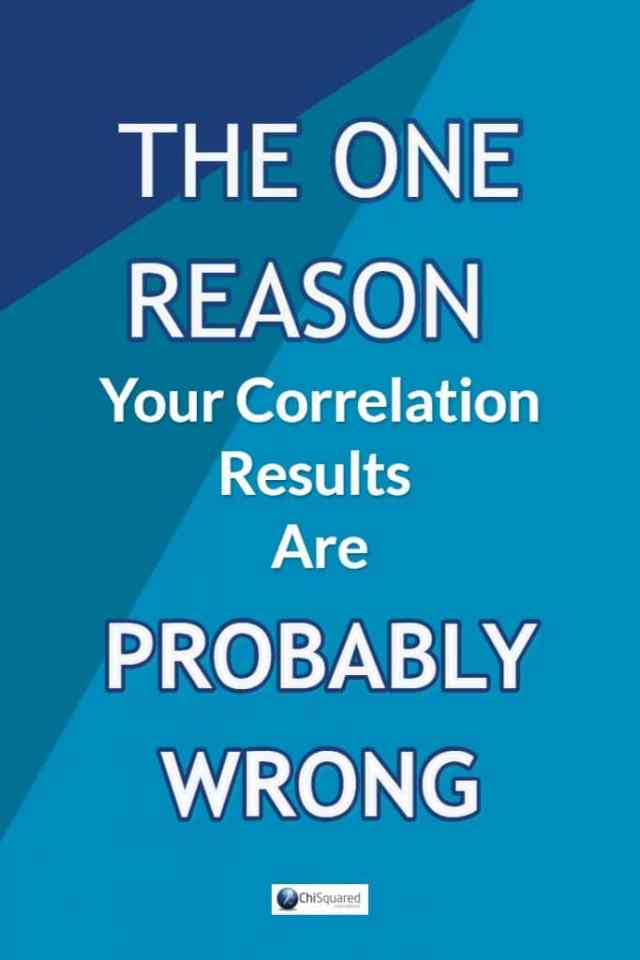 Find out the one reason your correlation results are probably wrong. #correlation #statistics #freeebooks