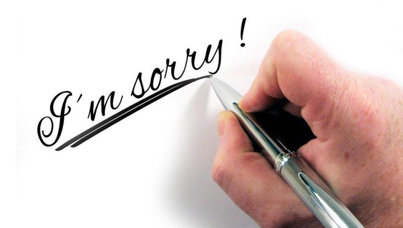 come chiedere perdono chiedere scusa