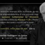 Nota de Falecimento - Pr. Sebastião Rodrigues de Souza