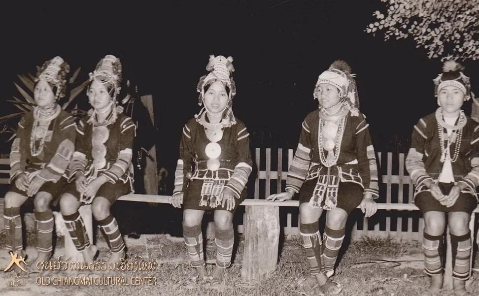 Five women in traditional dress