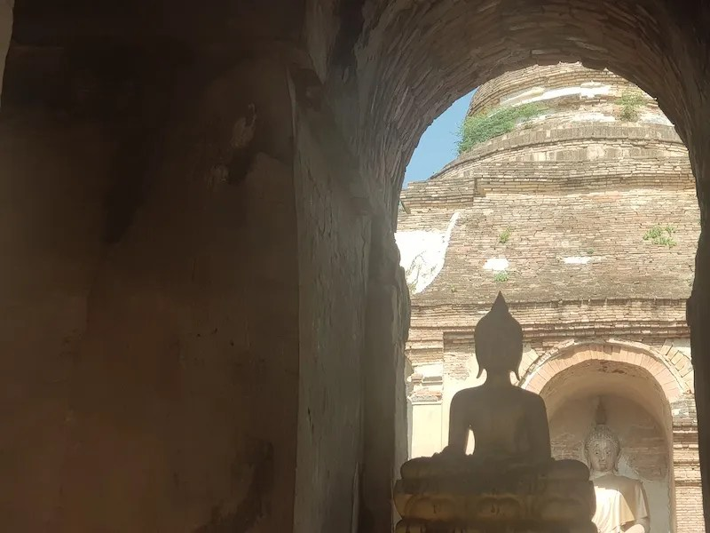 Looking from one Buddha to another