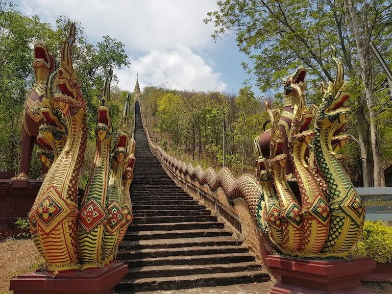 Stairs with dragons