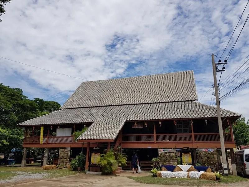 Old house on stilts in Phrae