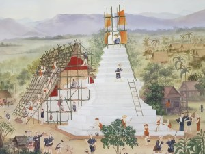 People building a temple