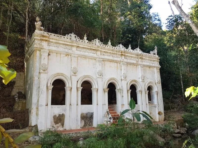 White colonial building Wat Pha Lat